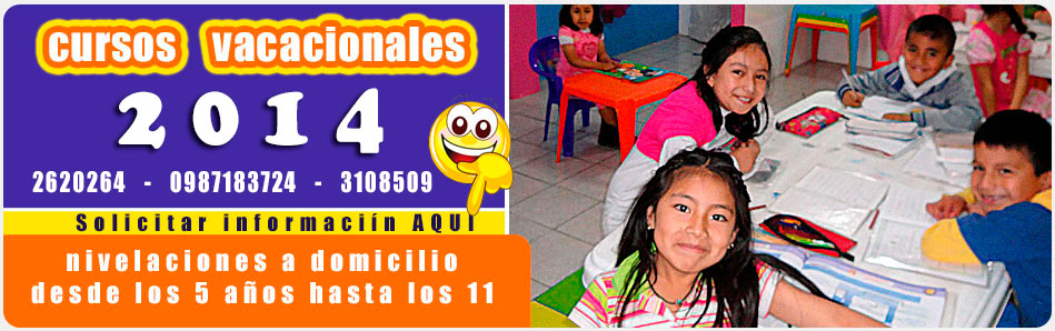 Tareas Dirigidas Quito : Nivelaciones de materias para niños